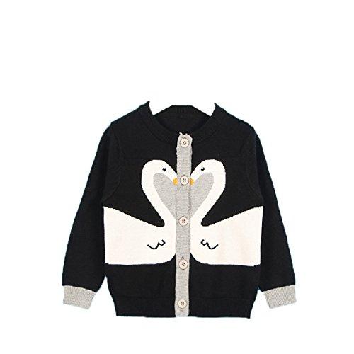 Lemonkid Girls Kids Button Cotton Knitwear Couple Swans Cardigan Coat Sweater 80cm/fit 12-18 Months by Lemonkid®