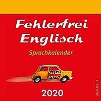 Fehlerfrei Englisch Sprachkalender 2020 - Tageskalender