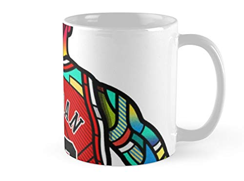 Land Rus Mug Michael Jordan - Stained Glass Mug - 11oz Mug - Features wraparound prints - Dishwasher safe - Made from Ceramic - Best gift for family friends (Mugs Walmart Coffee)