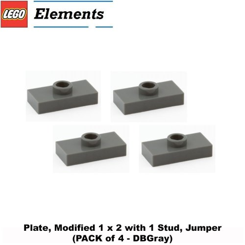 lego-parts-plate-modified-1-x-2-with-1-stud-jumper-pack-of-4-dbgray