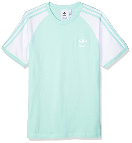 adidas Originals Men's 3-Stripes Tee, Clear Mint, XS