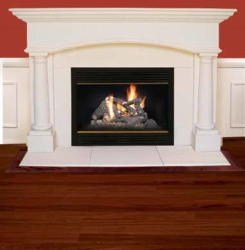 Kington Cast Stone Mantel with Insert and 3 Piece Hearth ...
