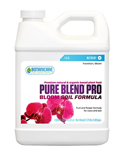 Botanicare PURE BLEND PRO Bloom Soil Nutrient 1-4-5 Formula, 1-Quart