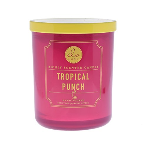 DW Home Tropical Punch Richly Scented Hand Poured Candle, Double Wick, 56 Hour Burn Time -