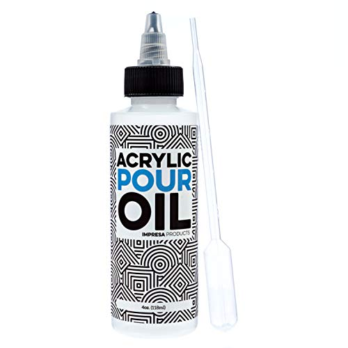 Acrylic Pouring Oil - 100% Silicone - Ideal Silicone Lubricant for Art Applications - Large 4 Ounces (Includes Pipette) - Made in The USA
