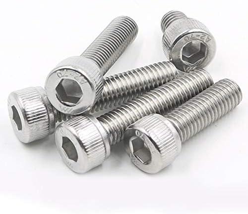 Dimensioni : M8, Lunghezza : 35mm BOJI Thumb Screw Hexagon Screw Metal Mechanical Screw Hex Head Screw Set 5pcs