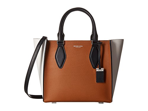 Michael Kors Tote Brown/White Leather Women's Handbag 31F5PGRT2U292