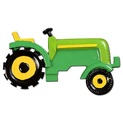 Green Tractor / Lawn Mower Christmas Tree Ornament