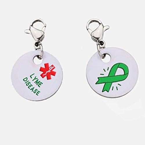 Lyme Disease Snap-On Bracelet Charm-Parent (Stainless Steel),98