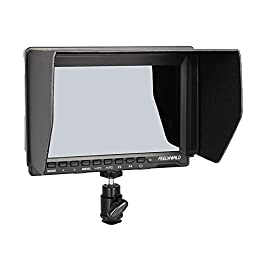 FEELWORLD FW-759 7\'\' Slim HD Video Monitor IPS 1280x800 HDMI 1080p with Sunshade for BMPCC,for Canon Sony Dslr Camera