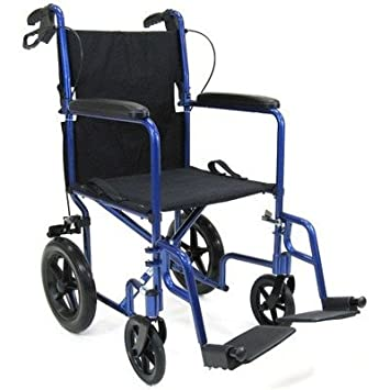 """Amazon.com: 19"""" Ultra Ligero Transporte Silla De Ruedas ..."""