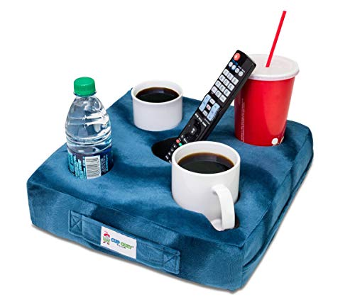 (Cup Cozy Deluxe Pillow (Teal) As Seen on TV -The world's BEST cup holder! Keep your drinks close and prevent spills. Use it anywhere-Couch, floor, bed, man cave, car, RV, park, beach and more!)
