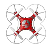 FQ777-124 Micro Drone 4CH 6Axis Gyro Pocket Quadcopter Switchable Controller CF Mode One Key To Return 3D Roll MAV RTF With Free Makibes Cleaning Cloth (Red)