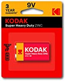 Kodak Super Heavy Duty 9V 1 Pack Zinc Batteries (30635401)