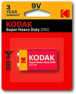 Kodak Super Heavy Duty 9V 1 Pack Zinc Batteries (30635401)