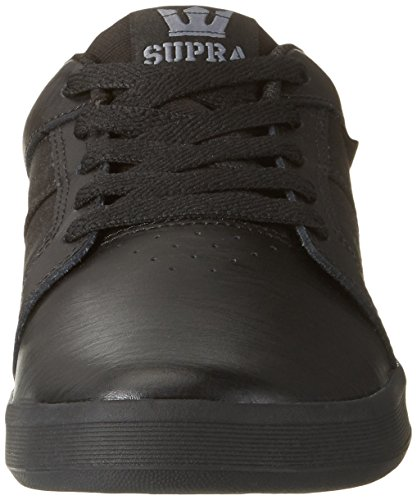 Ineto Supra Shoe Black Round Skate Toe Black Men Leather Black vxqwOdfxR
