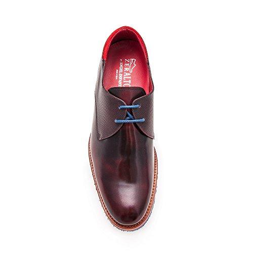 ZERIMAR Zapatos con alzas interiores para caballeros Aumento +7 Cm ¡OFERTA ESPECIAL 75 ANIVERSARIO! Diseñados por angel infantes burdeos