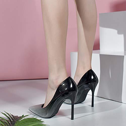 FLYRCX Europäisches Steigungsfarbe-Reizvolles Temperament-High-Heels-Damen-Stilett zeigte Einzelne Schuhpartyschuhe die sind Schuhe Wedding sind die d70634