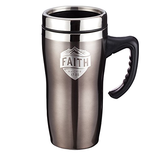 Stainless Steel Travel Mug: Faith by Christian Art Gifts