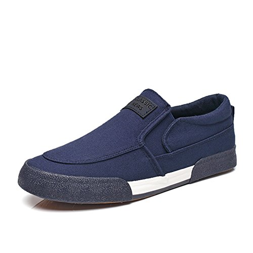 HUAN Chaussures de toile Chaussures de toile pour hommes Chaussures de sport décontractées Confort respirant Chaussures de course Chaussures de conduite blue fHihCkOcH