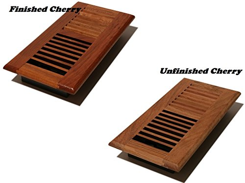 4x10NC Floor Brazilian Cherry Register Choose your size and Finish With Classic Lovered Metal Dumper