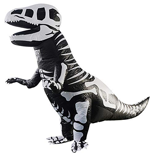 Adult Inflatable Dinosaur T-Rex Cosplay Costumes Blow Up Suit t-rex Clothing (Skeleton Dinosaur) -