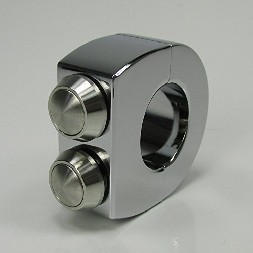 Custom 2-Button Chrome Billet Aluminum Handlebar Switches Clamp for 1