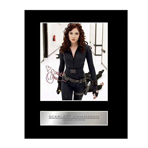 Johansson Poster Scarlett - iconic pic Scarlett Johansson Signed Mounted Photo Display #2 Black Widow Autographed Gift Picture Print
