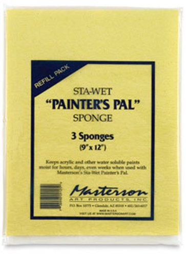 (Masterson Sta-Wet Painters Pal Palette Painters Pal sponge refills pack of 3 9 in. x 12 in.)