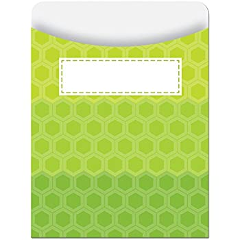Creative Teaching Press Library Pockets, Ombre Lime Green Hexagons (6786)