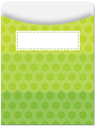 (Creative Teaching Press Library Pockets, Ombre Lime Green Hexagons)