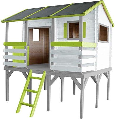 SOULET Romane - Casa de juegos con pedestal + antesala para jardín: Amazon.es: Jardín