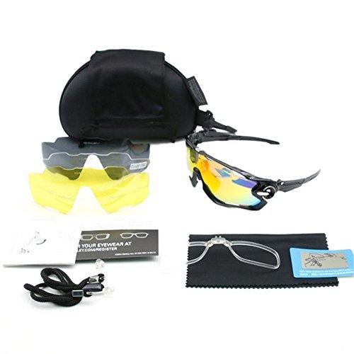 parabrisas UV juegos anti Negro deportivas Su sol cuatro luoyu gafas Todo de al Montar Plata polarizadas gafas aire de gafas gafas libre TavwqxURT