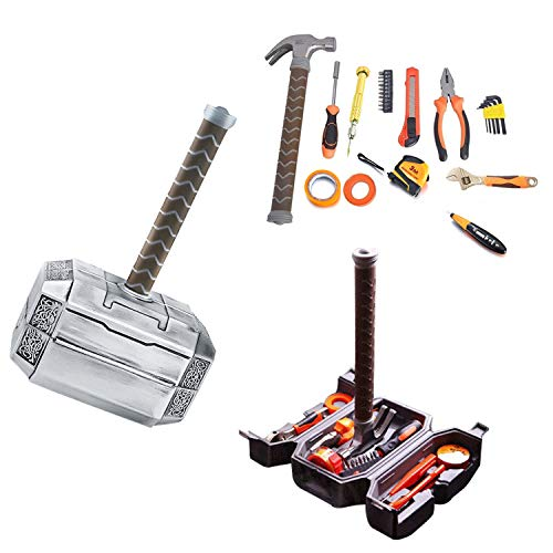 (Thor Hammer Tool Set,Thor Battle Hammer tool set,Durable, Long Lasting Chrome Finish Tools with Thor Hammer case)