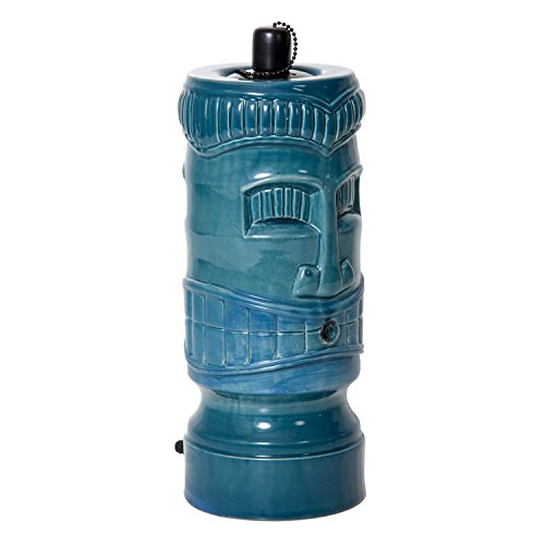 pond boss STIKIT Ceramic Tiki Torch Spitter, Turquoise by pond boss
