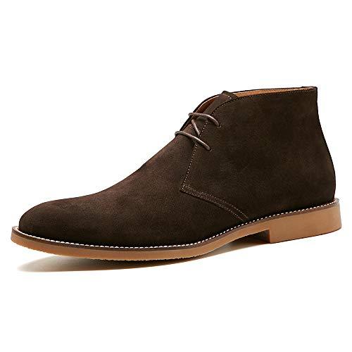 BURTENSE Men's Classic Original Suede Leather Chukka Boots (10US/Dark Brown