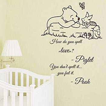 Amazoncom Winnie The Pooh Wall Decal Quote Sometimes The - Nursery wall sticker quotes