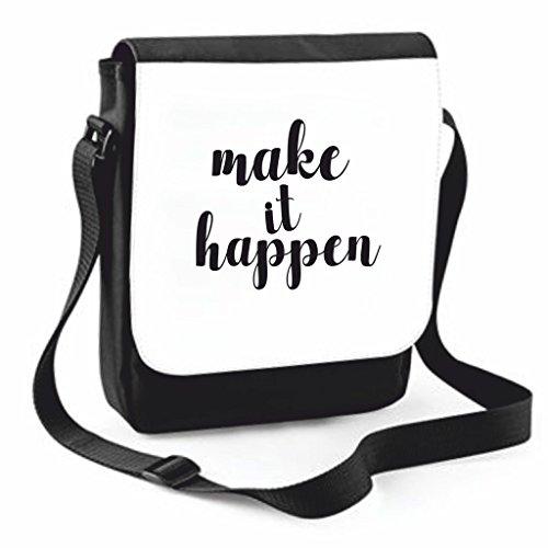 Make Handbag Positive Crossbody Case Cover Messenger Shoulder Bag Large Statement It Happen Compartment Black Medium Traveling Thinking vpWqxEwvrP