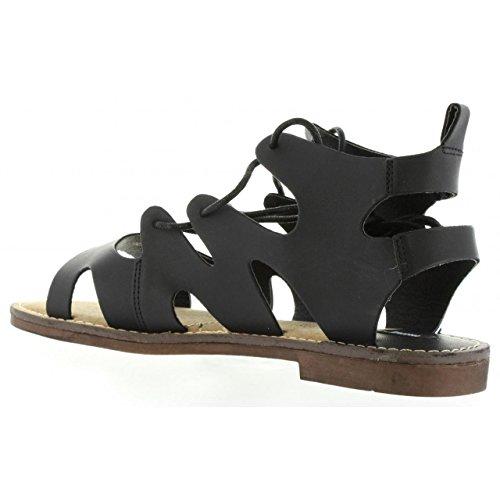 Sandalias de Mujer MTNG 53674 I265 BRUSH NEGRO