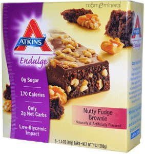 Atkins Endulge Bars 5Pack Nutty Fudge 5/1.4 Oz