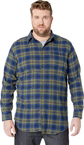 Columbia Men's Big & Tall Boulder Ridge Long Sleeve Flannel Collegiate Navy Pop Plaid ()