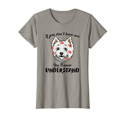 Womens Funny Happy Westie Face Dog Mom Mama Mother Life Shirt
