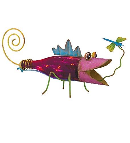 Regal Art & Gift Solar Bottle Lizard, Pink -