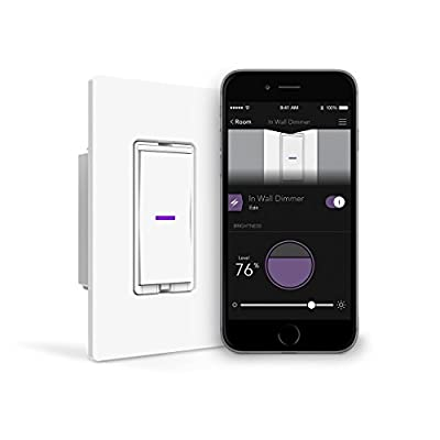 iDevices Dimmer Switch - WiFi Smart Dimmer Switch, No Hub Required, Single Pole/3/4-way Set Up, Works with Amazon Alexa, Apple HomeKit and Google Home