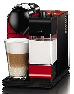 Nespresso Lattissima + Passion Red EN520R DeLonghi  - Cafetera monodosis (19 bares, Preparación automática de Capuccino, Apagado automático programable), Color rojo