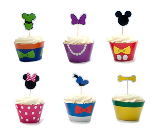 Mouskariffic Cupcake Wrappers and Picks 24ct