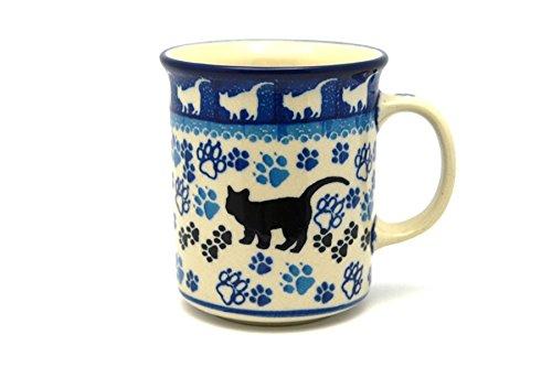 Polish Pottery Mug - Straight Sided - Boo Boo Kitty - Kitty Cat Pottery