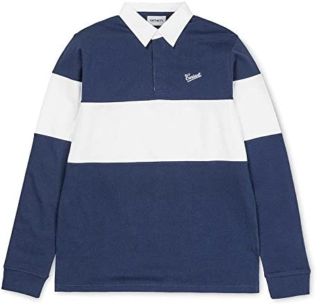 Carhartt L/S Strike Rugby Polo Blue White - M: Amazon.es: Deportes y aire libre