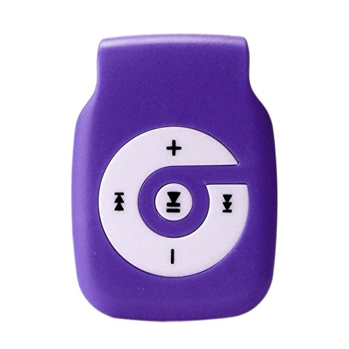 Start Sport Relax Mini Clip Light Protable USB MP3 Player Support Micro SD TF Card Music Media-Purple