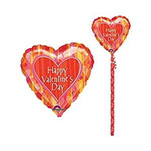Anagram Valentine Orange Crush Garland Tail Balloon 29in